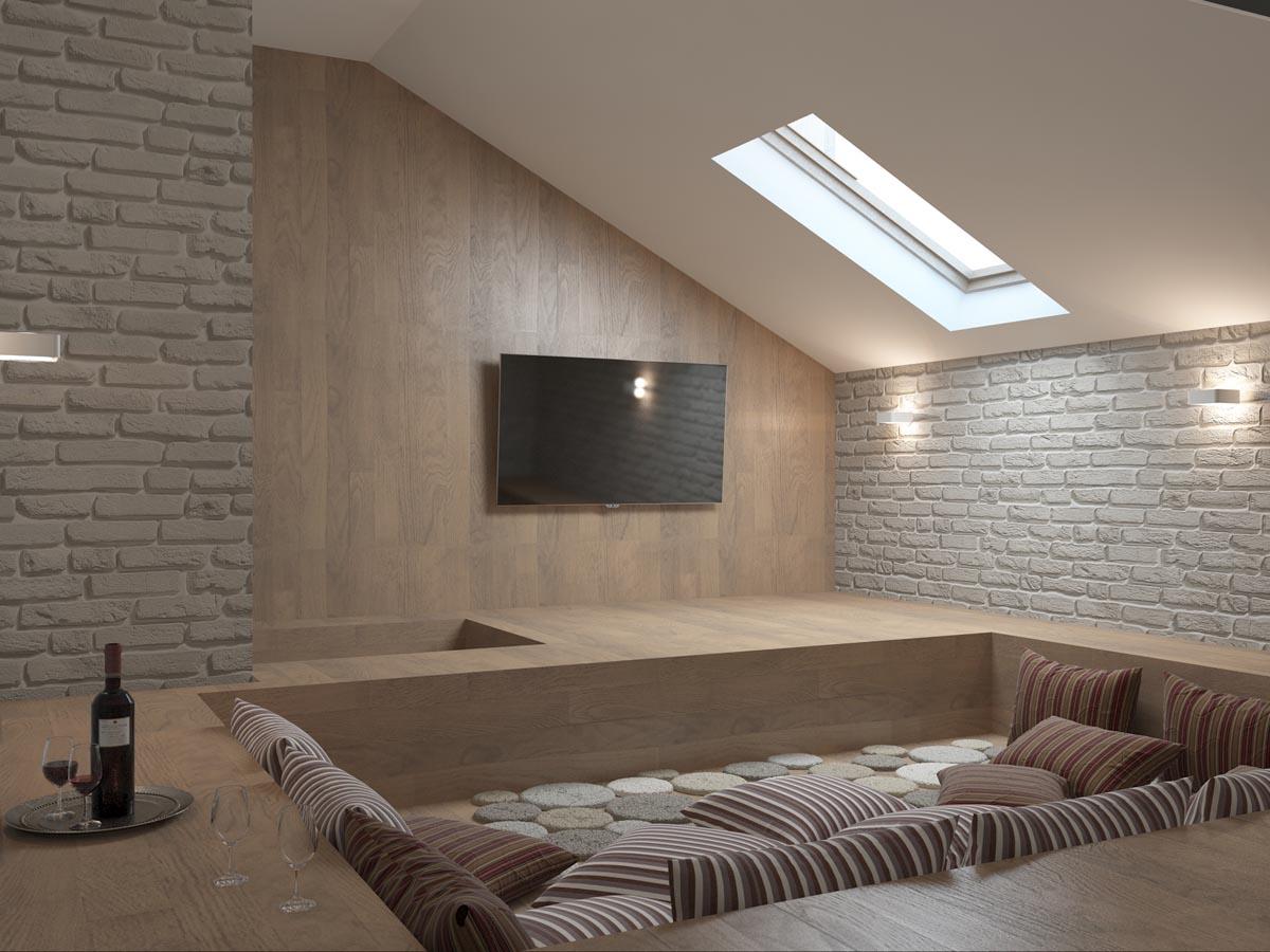 Дизайн интерьера коттеджа 300 м2